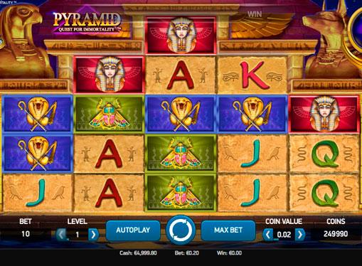 Κουλοχέρηδες με πραγματικά χρήματα - Pyramid