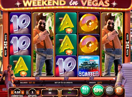 Κουλοχέρηδες Weekend in Vegas σε απευθείας σύνδεση τυχερά παιχνίδια με απόσυρση