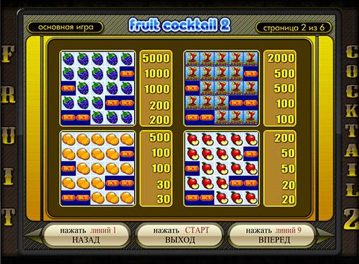 Τα σημάδια της Κουλοχέρηδες Fruit Cocktail 2