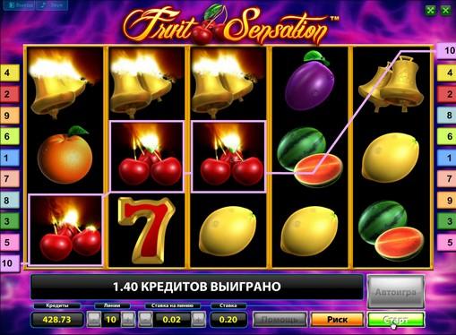 Η εμφάνιση της Κουλοχέρηδες Fruit Sensation Deluxe