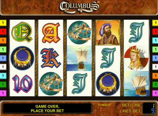 Columbus Παίξτε το κουλοχέρη σε απευθείας σύνδεση για χρήματα
