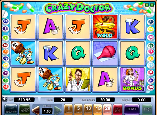 Crazy Doctor Παίξτε το κουλοχέρη online για χρήματα