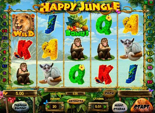 Happy Jungle Παίξτε την υποδοχή σε απευθείας σύνδεση