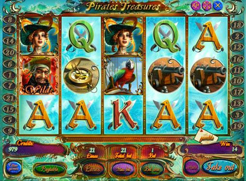 Pirates Treasures Παίξτε το κουλοχέρη σε απευθείας σύνδεση για χρήματα