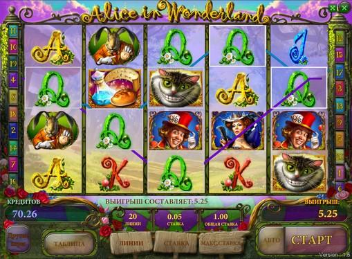 Μπόνους συνδυασμός υποδοχής Alice in Wonderland