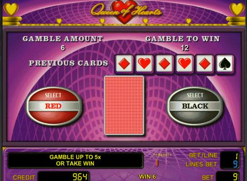 Διπλασιασμός παιχνιδιού Κουλοχέρηδες Queen of Hearts