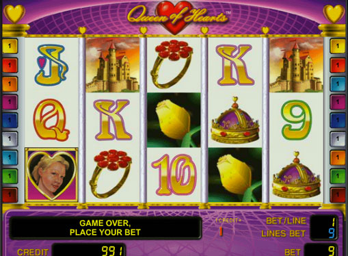 Queen of Hearts Παίξτε το κουλοχέρη σε απευθείας σύνδεση για χρήματα