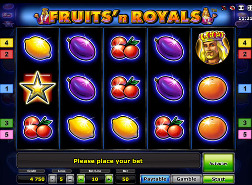Fruits'n Royals Deluxe Παίξτε την υποδοχή σε απευθείας σύνδεση