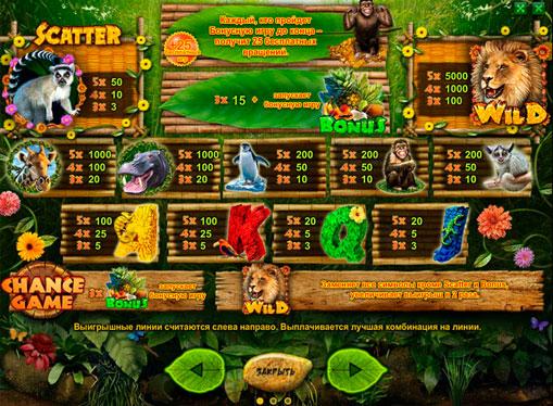 Τα σημάδια της Κουλοχέρηδες Happy Jungle