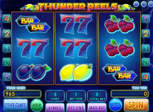 Thunder Reels Παίξτε το κουλοχέρη σε απευθείας σύνδεση για χρήματα